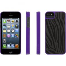 Чехол (клип-кейс) Griffin для iPhone 5 Moxy Zebra Black Purple Y0GB35519